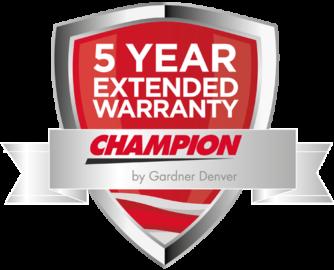 Champion offre 5 ans de garantie sur les compresseurs